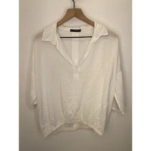 Brandy Melville Collar Blouse White One Size